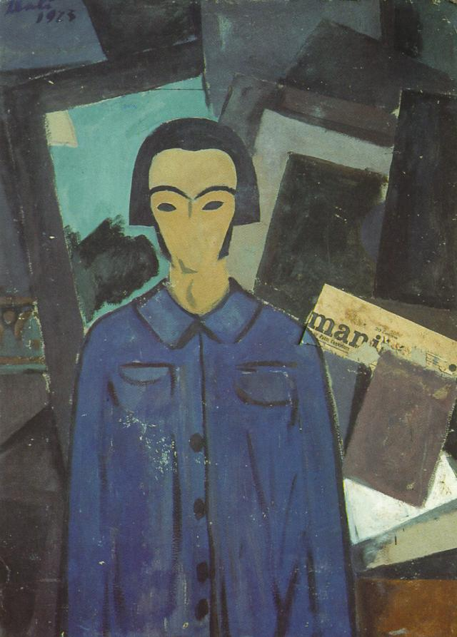 Self-portrait with L'Humanitie 1923