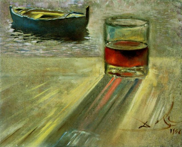 Glass of Wine and Boat 1956
