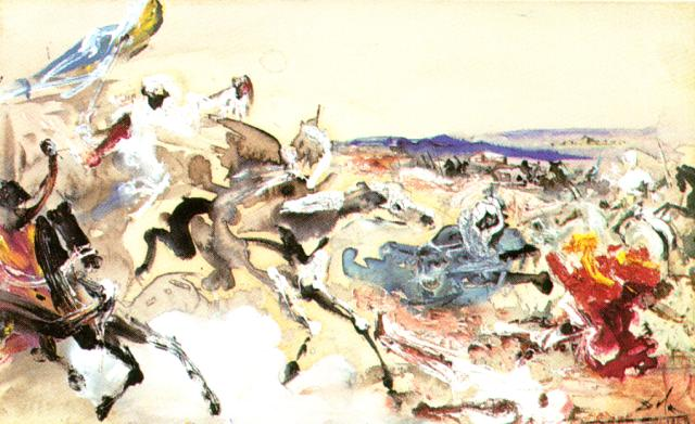 Arabs. Study for 'The Battle of Tetuan' 1960