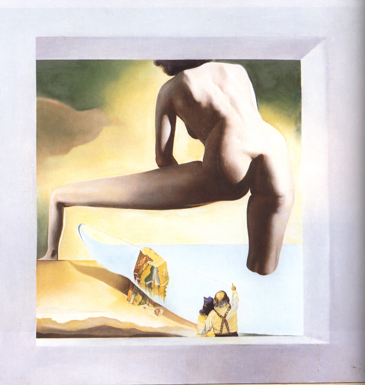Dali Lifting the Skin of the Mediterranean Sea to Show Gala the Birth of Venus 1977