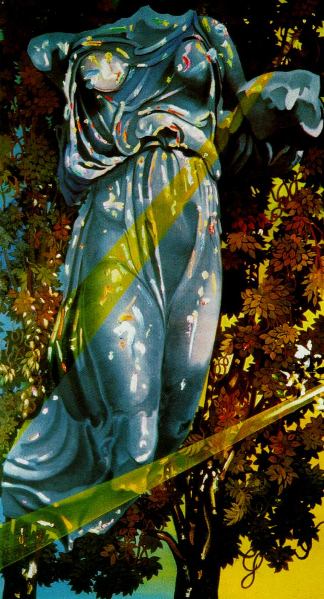 Nike, Victory Goddess of Samothrace, Appears in a Tree Bathed in Light 1977