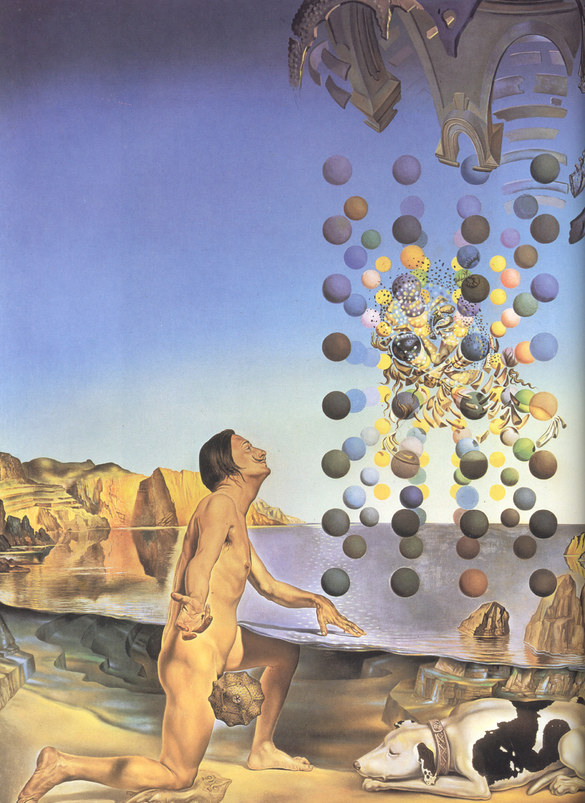 Dali Nude, in Contemplation Before the Five Regular Bodies 1954