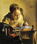 The Lacemaker, after Vermeer 1955