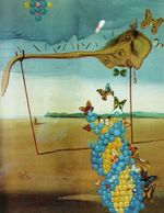 Butterfly Landscape. The Great Masturbator in a Surrealist Landscape with D.N.A. 1957