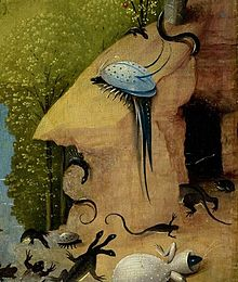 Hieronymus Bosch The Garden of Earthly Delights oil on oak panels 220x389cm Museo del Prado, Madrid
